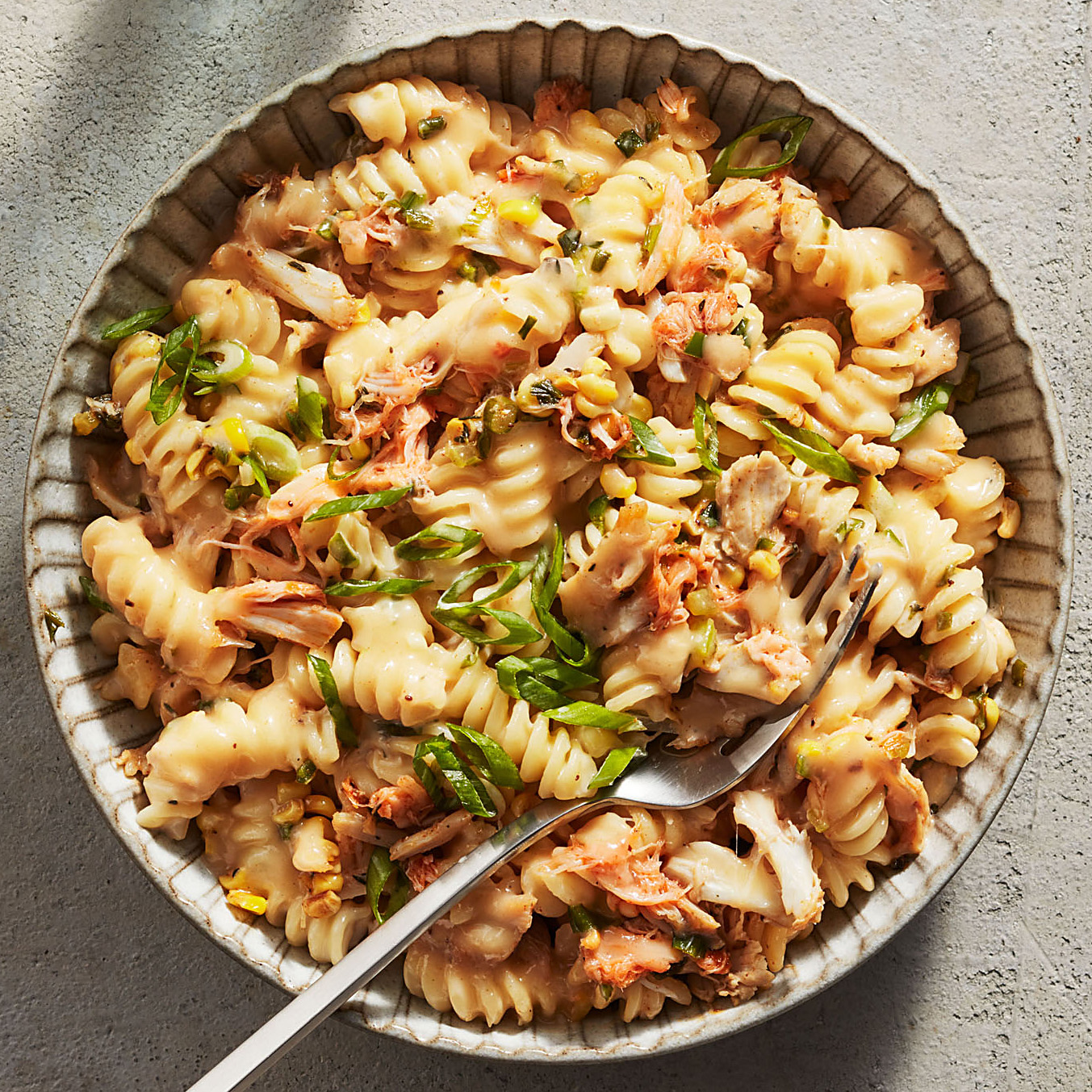 Fusilli Mac and Cheese with Crab