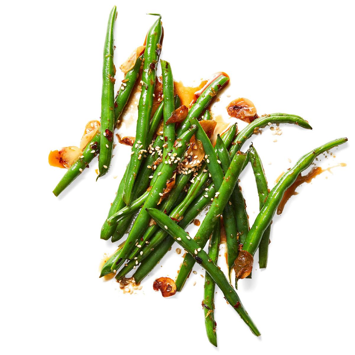 soy ginger green beans