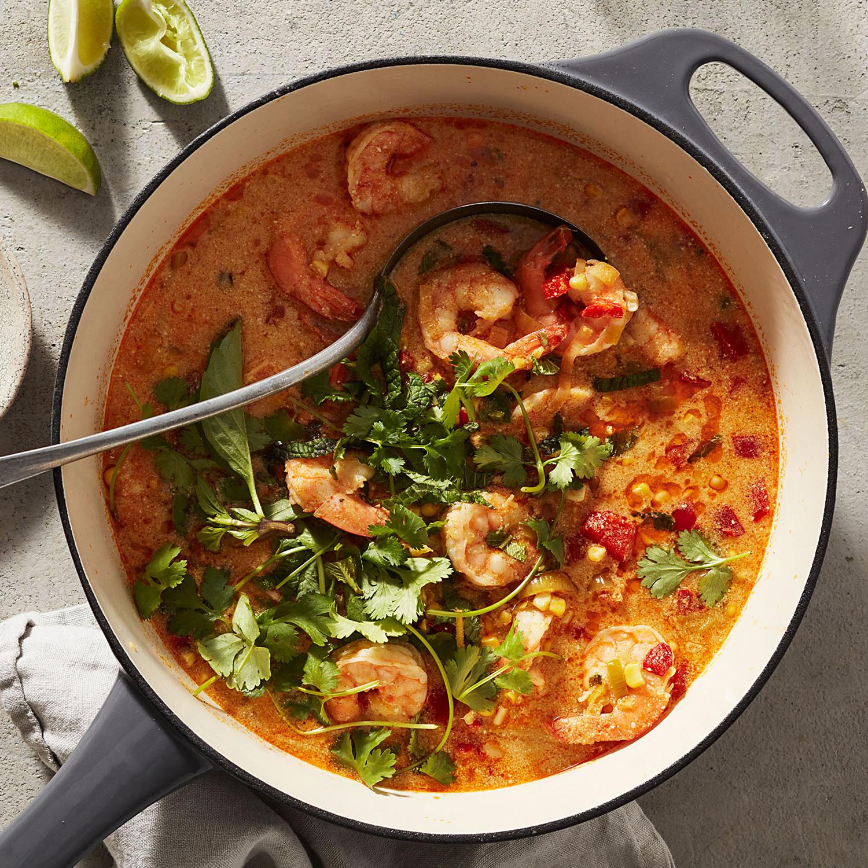 Thai Shrimp & Corn Chowder