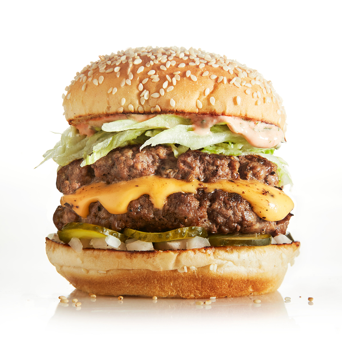 double cheeseburgers with special ranch