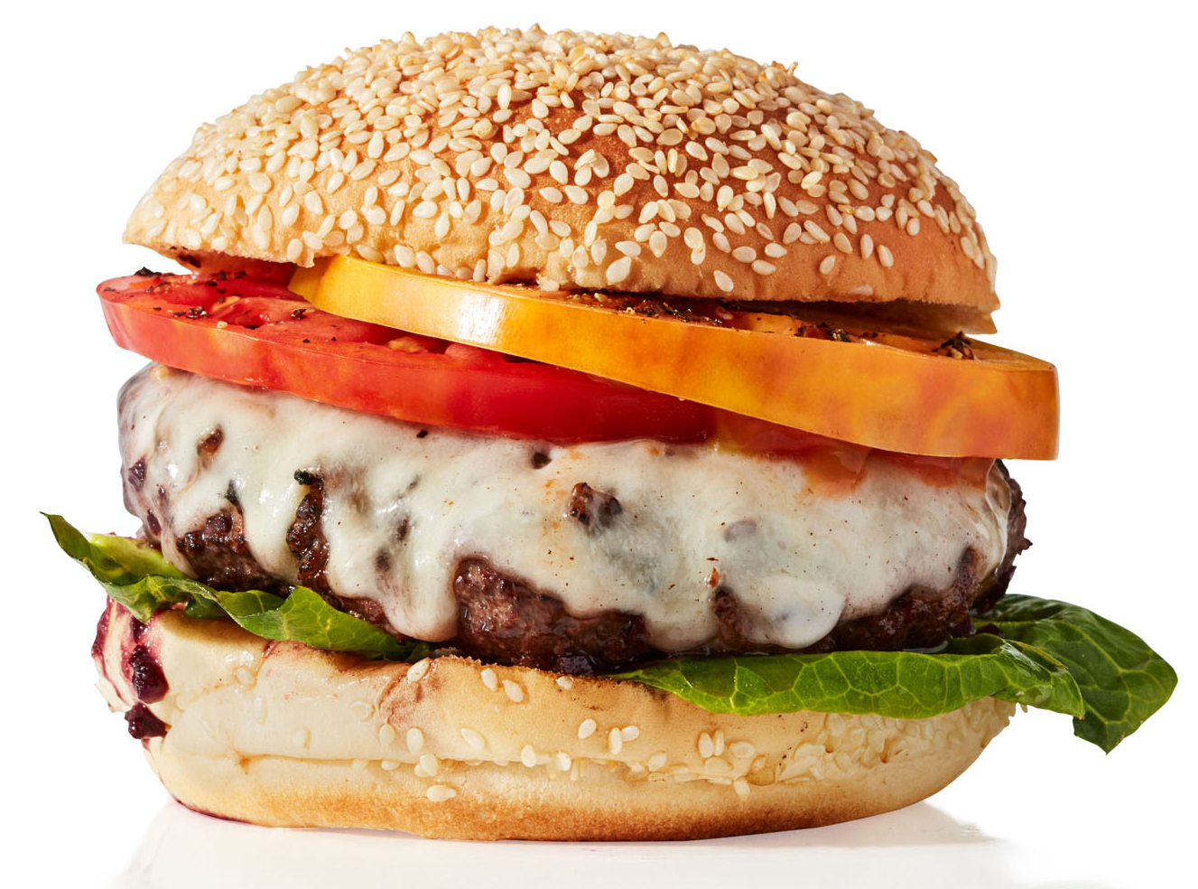 Winey Burger with Heirloom Tomatoes