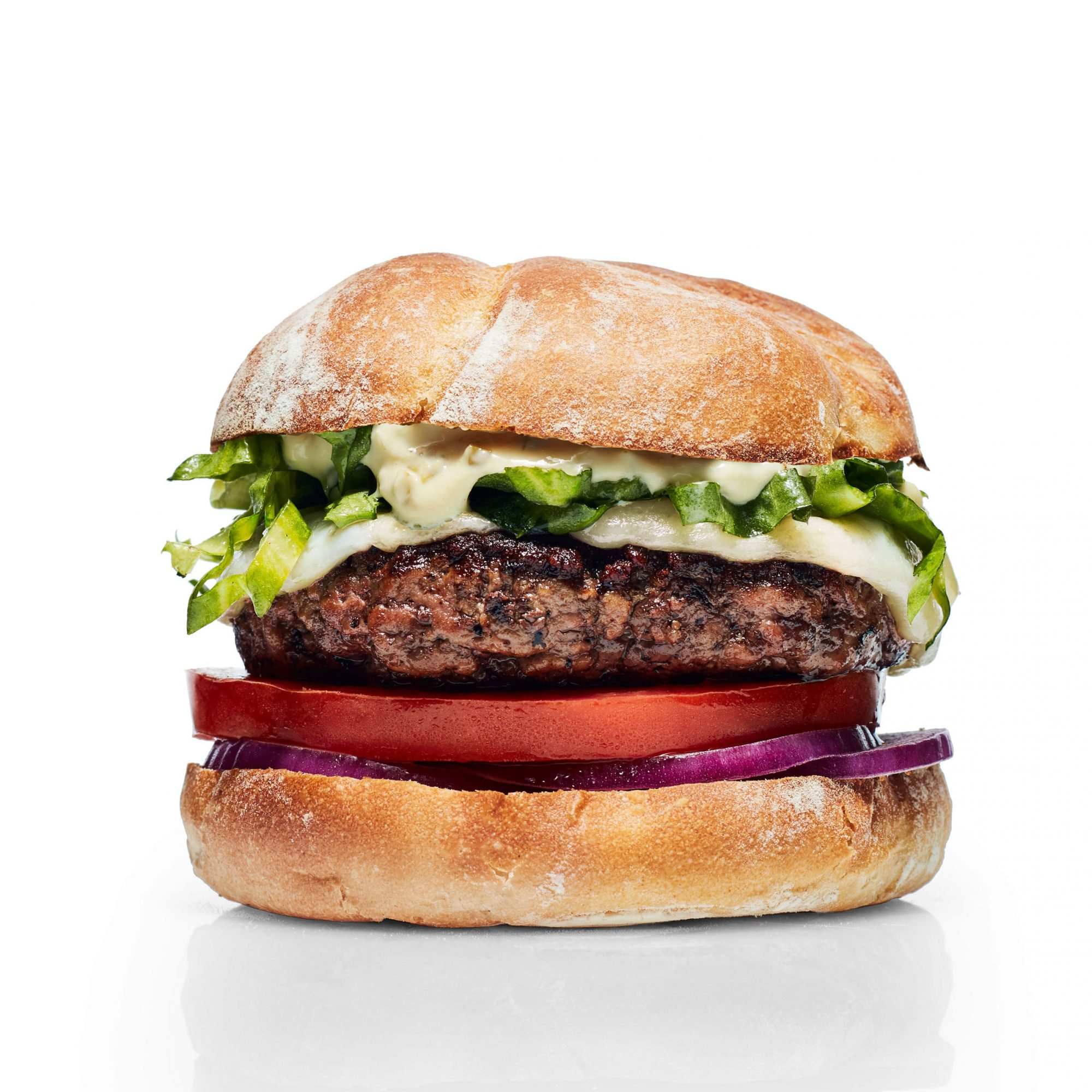 Tuscan-Style Steak Burgers with Garlicky Aioli