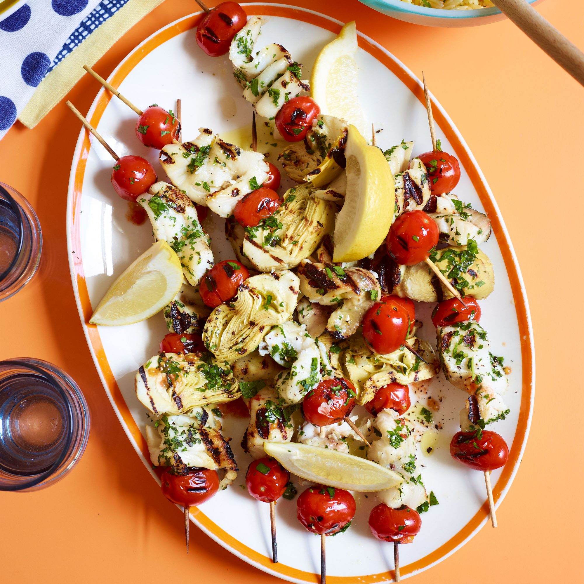 Herb-Marinated Tilapia Kebabs