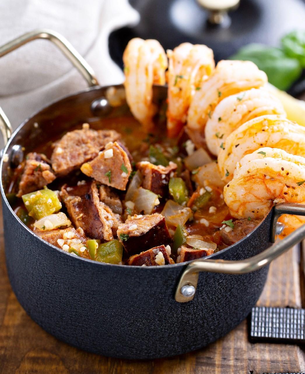 Kelli Ferrell Nana's Chicken-N-Waffles Cajun Shrimp & Grits