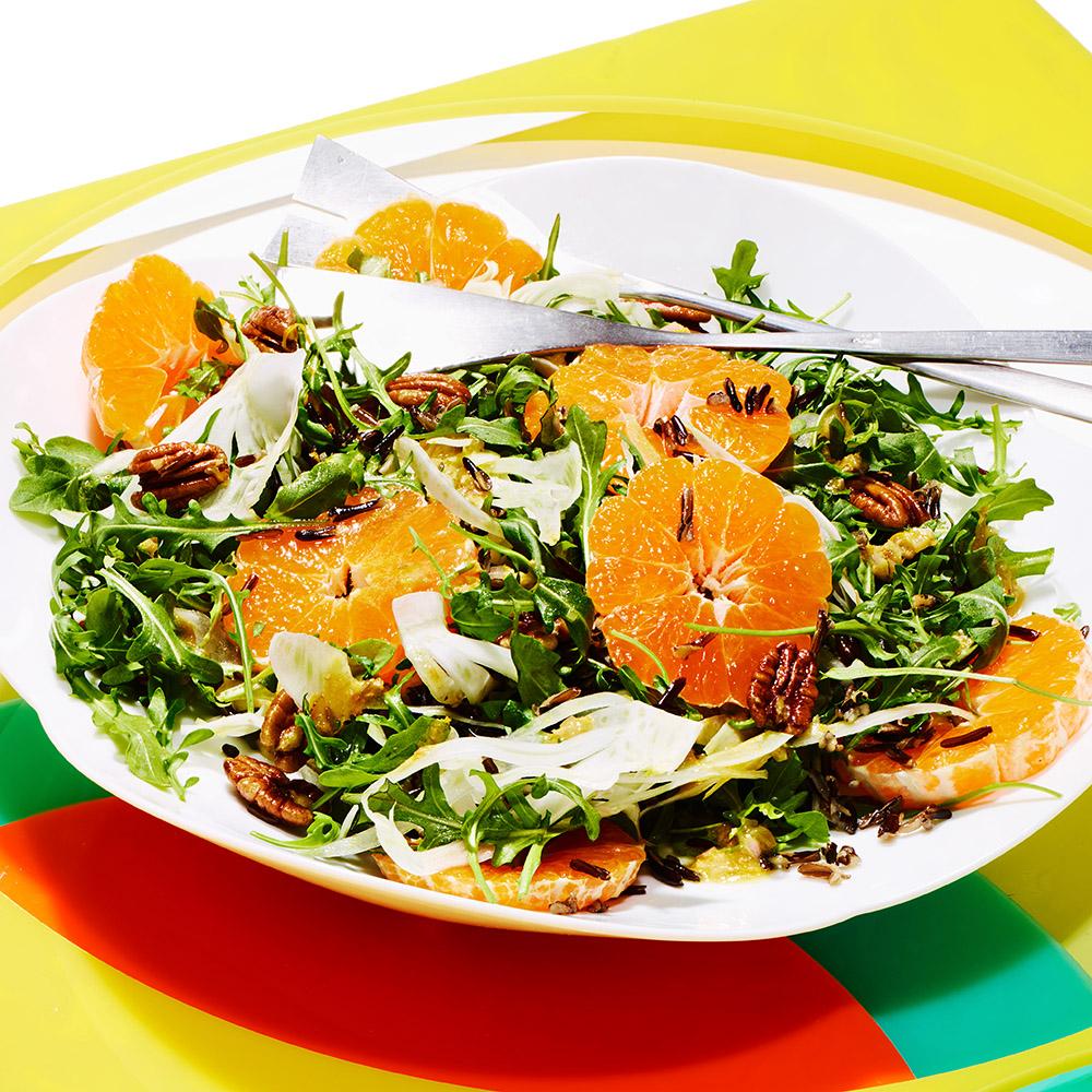 tangerine salad wild rice fennel