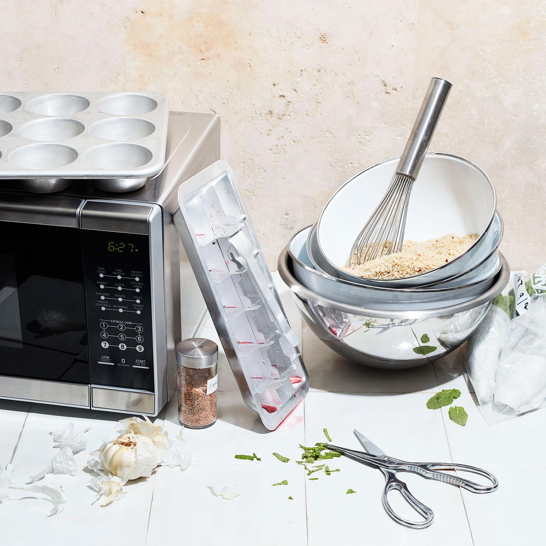 weeknight dinner shortcuts kitchen utensils microwave scissors