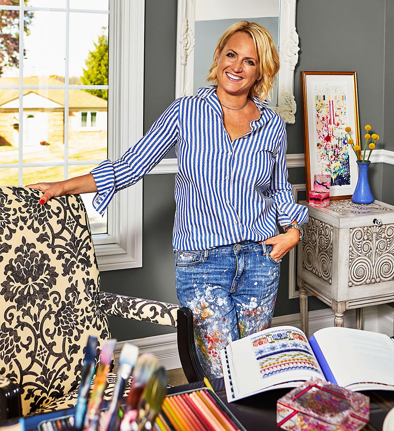 Kristi Kohut in home office