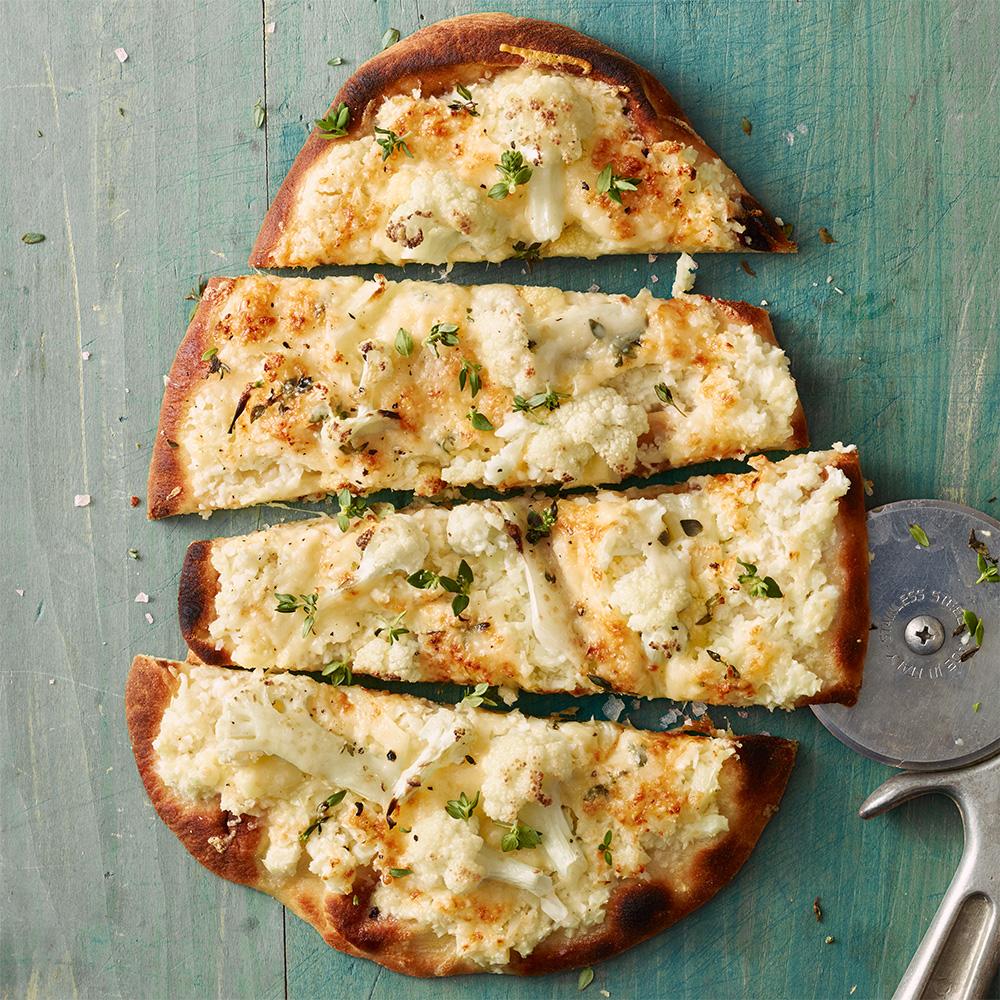 Cauliflower-Gruyere Flatbreads