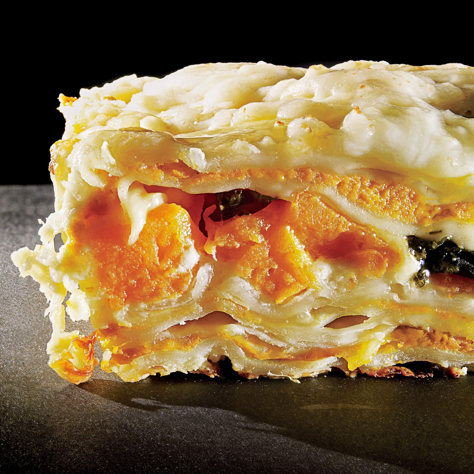 autumn golden vegetable lasagna