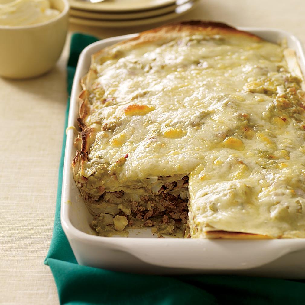 enchilada suiza mexican lasagne