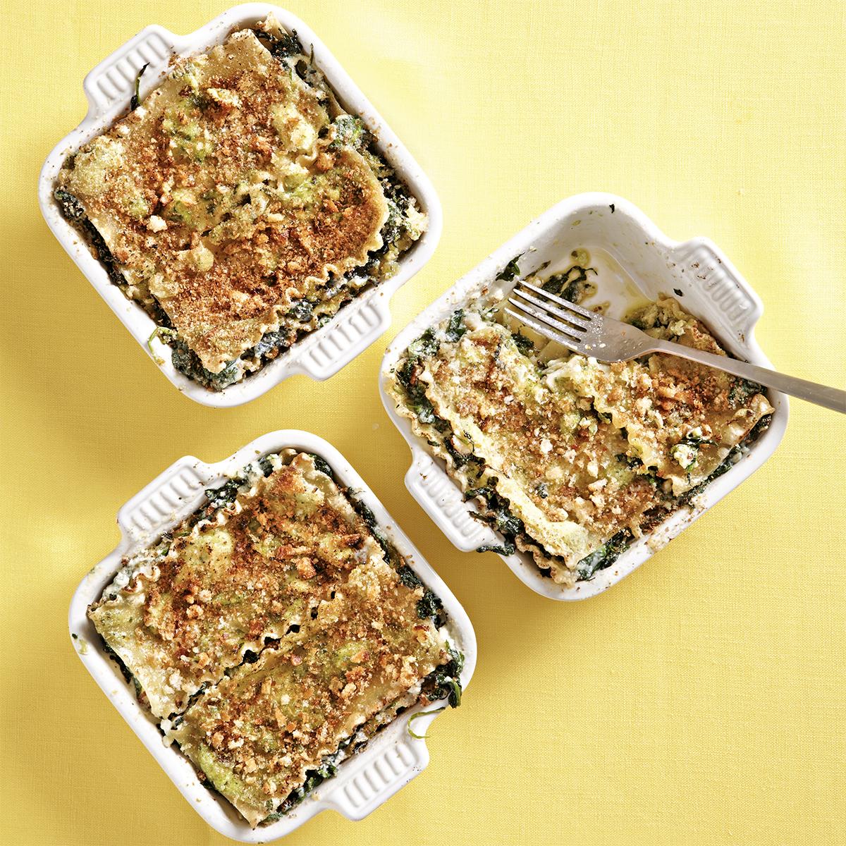 Spinach & Pesto Baked Lasagna