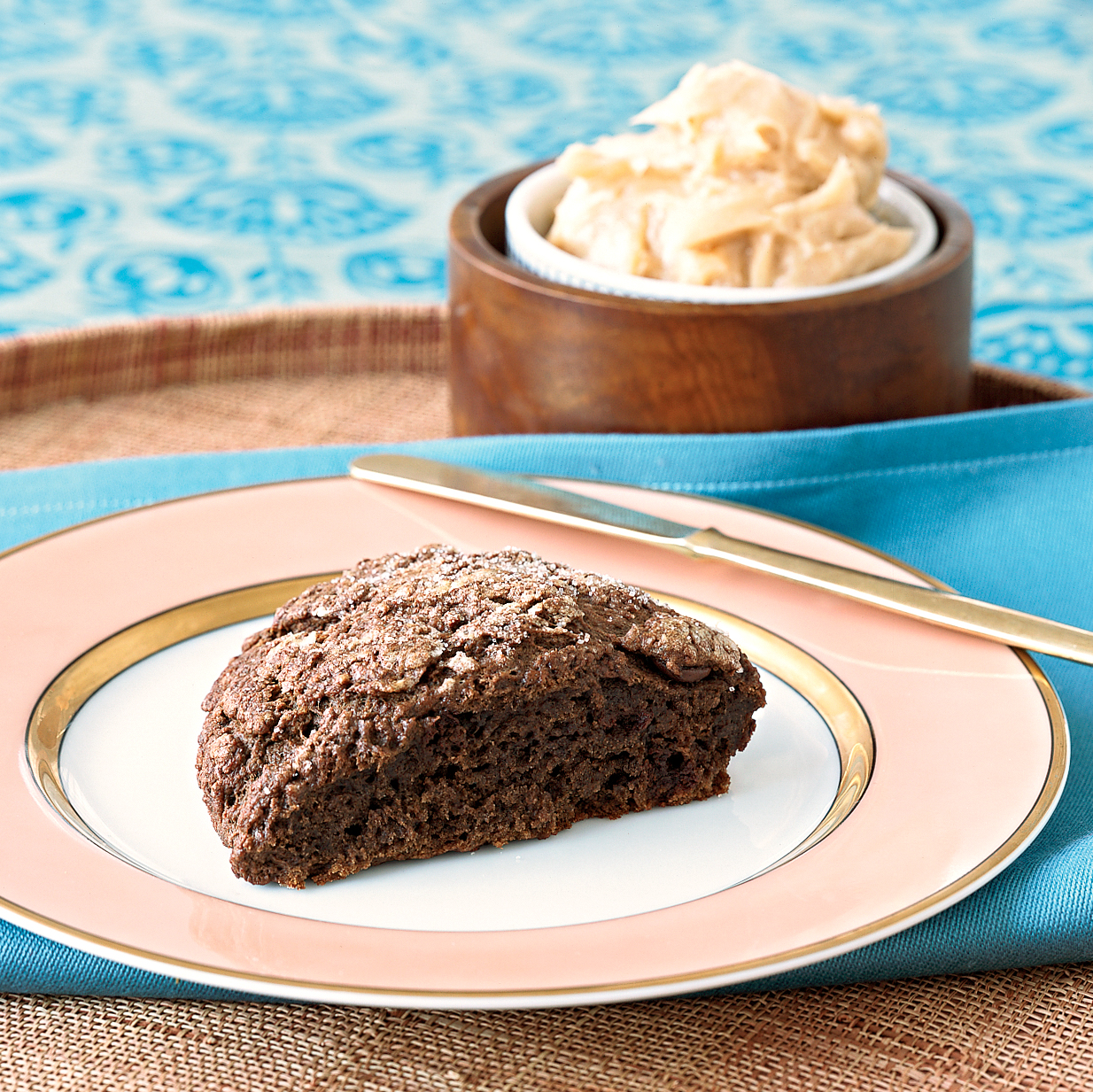 Double Chocolate Scones with Cinnamon Butter