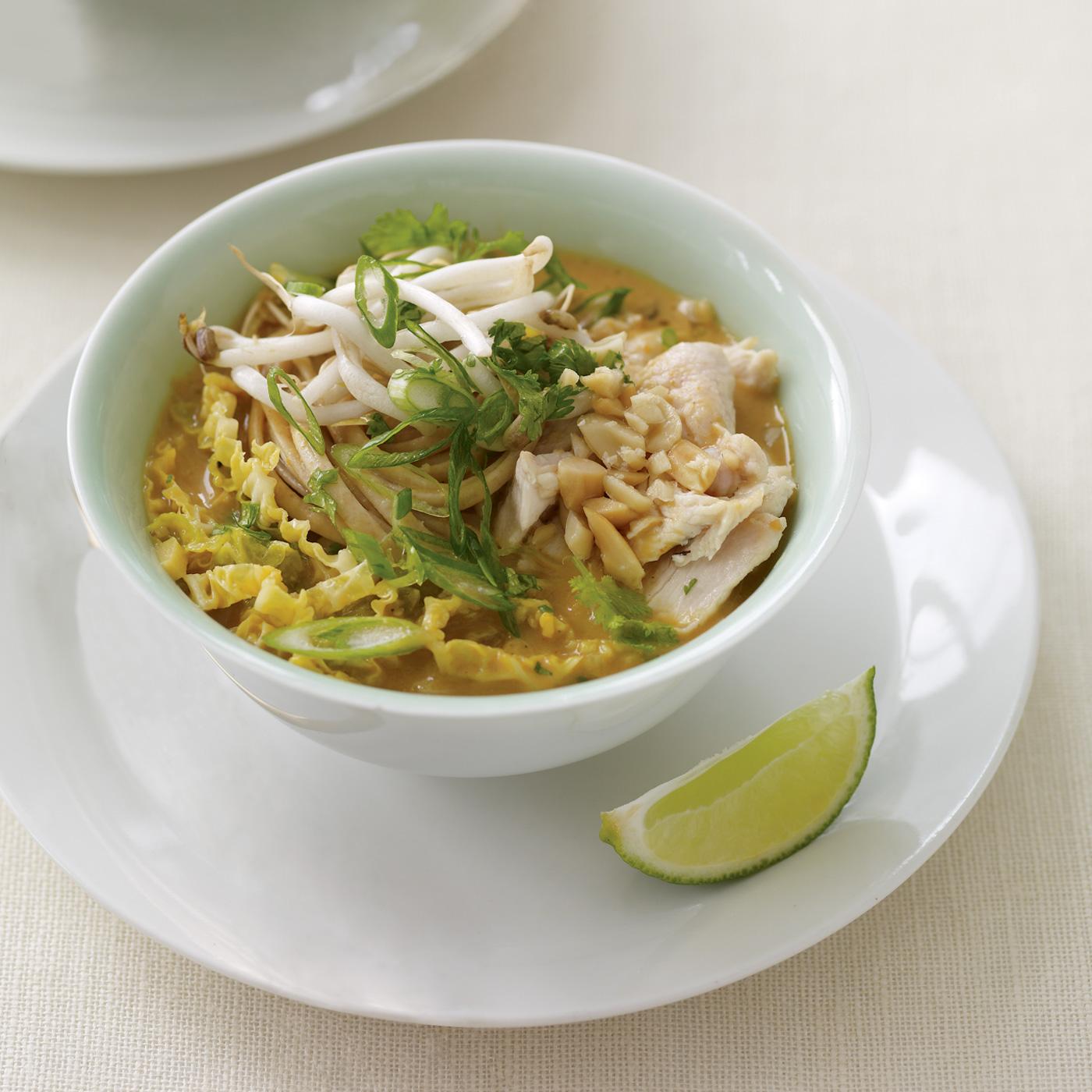 Chicken Satay Noodle Soup