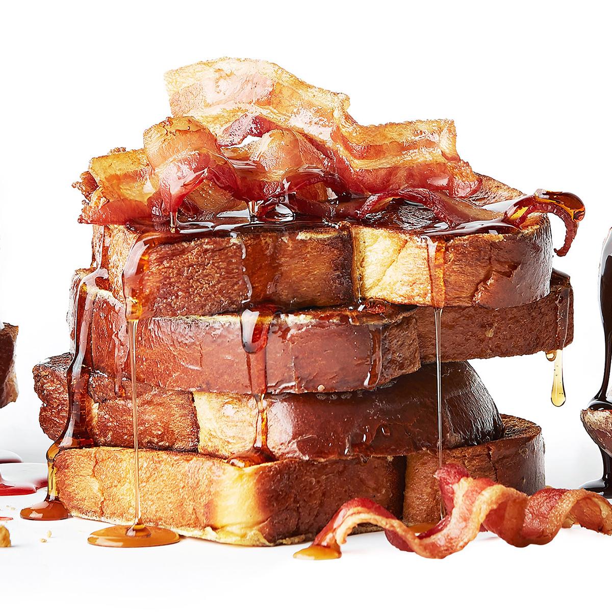 Maple-Bourbon Bacon French Toast
