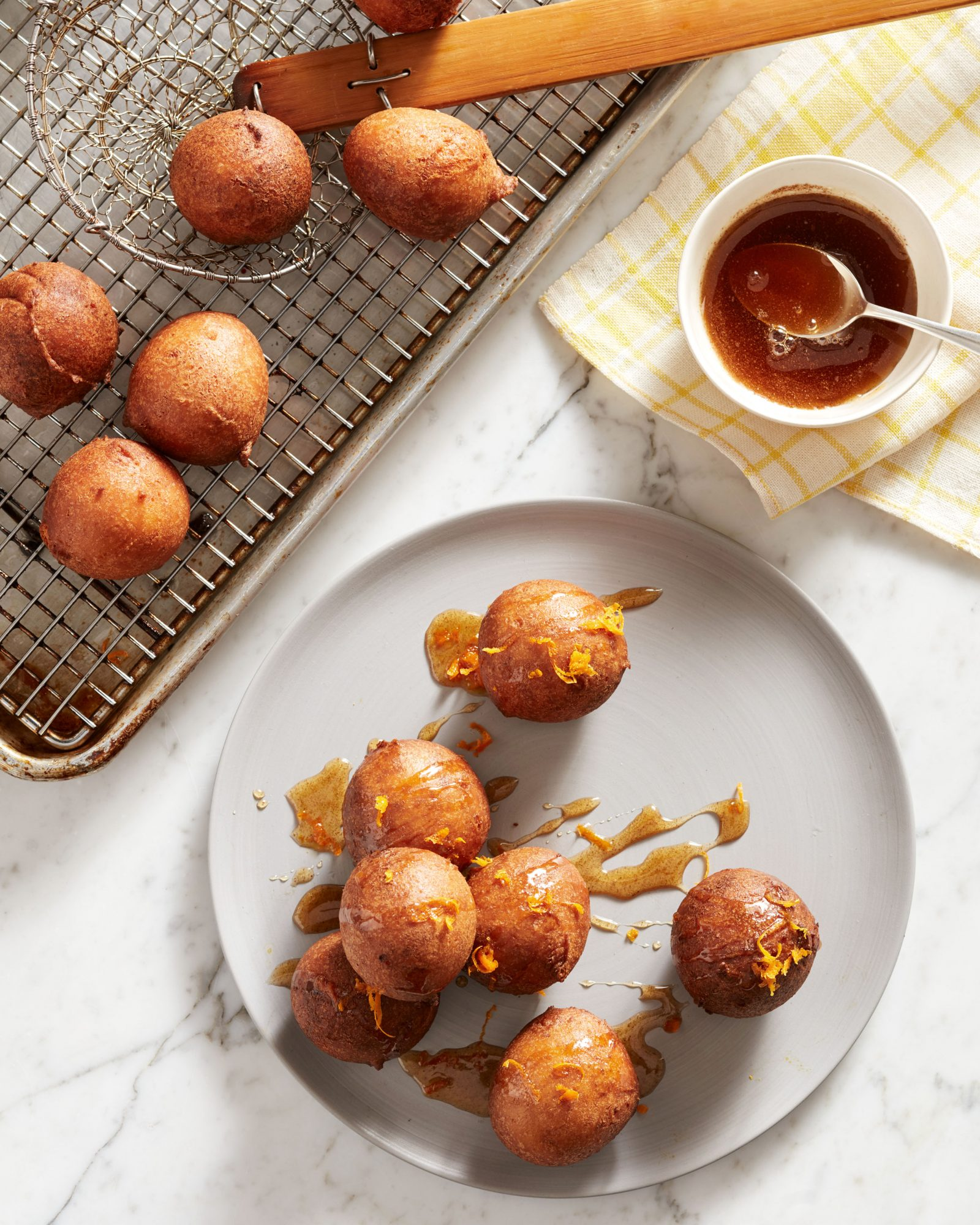 Ricotta Fritters with Maple-Cinnamon Drizzle