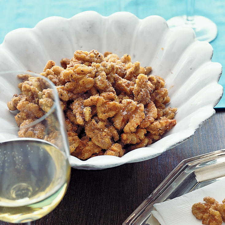 Spicy Maple Walnuts