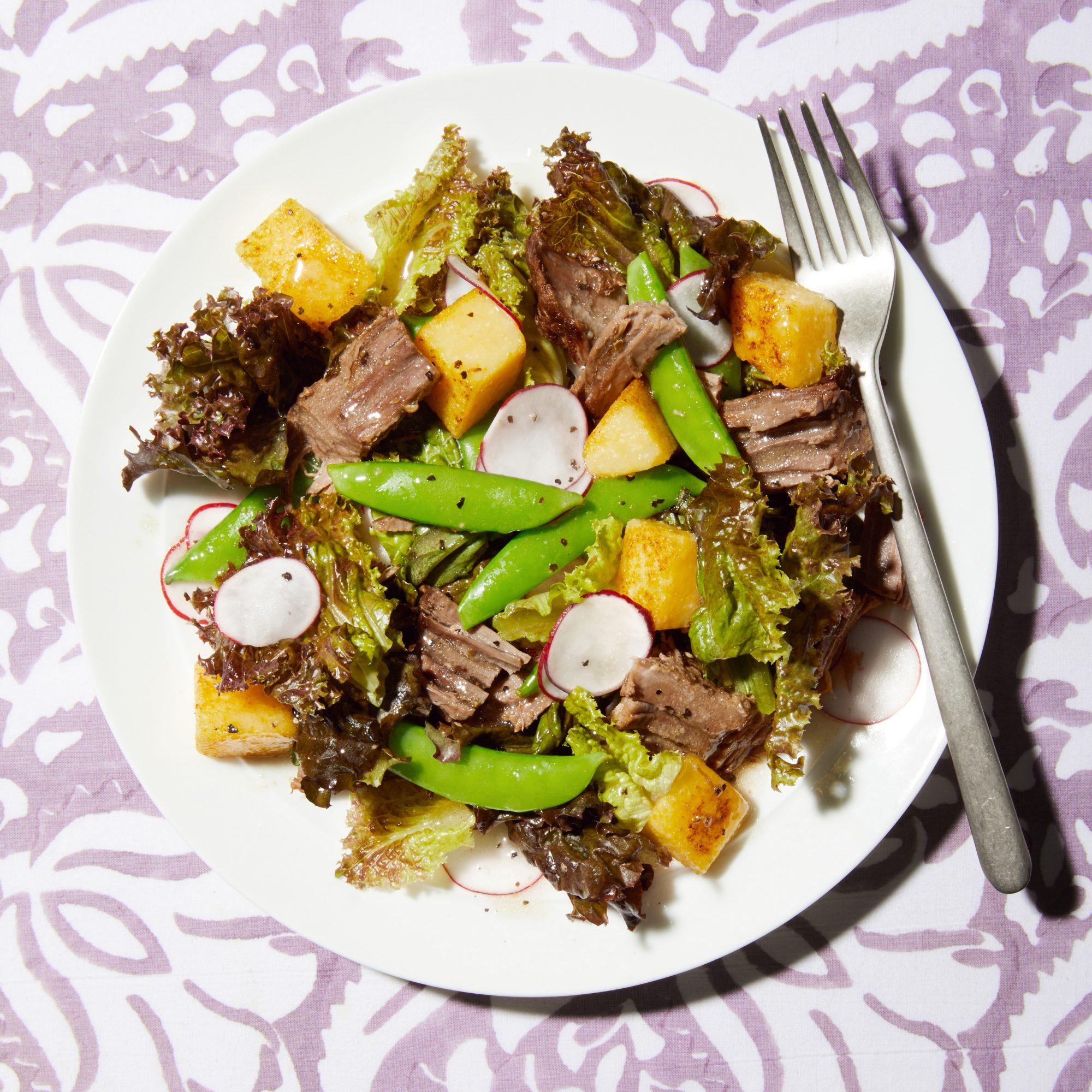brisket polenta salad