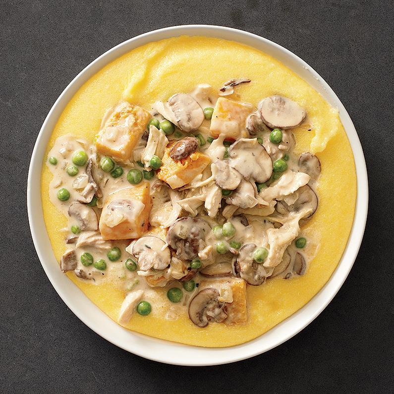 Creamy Chicken with Soft Polenta