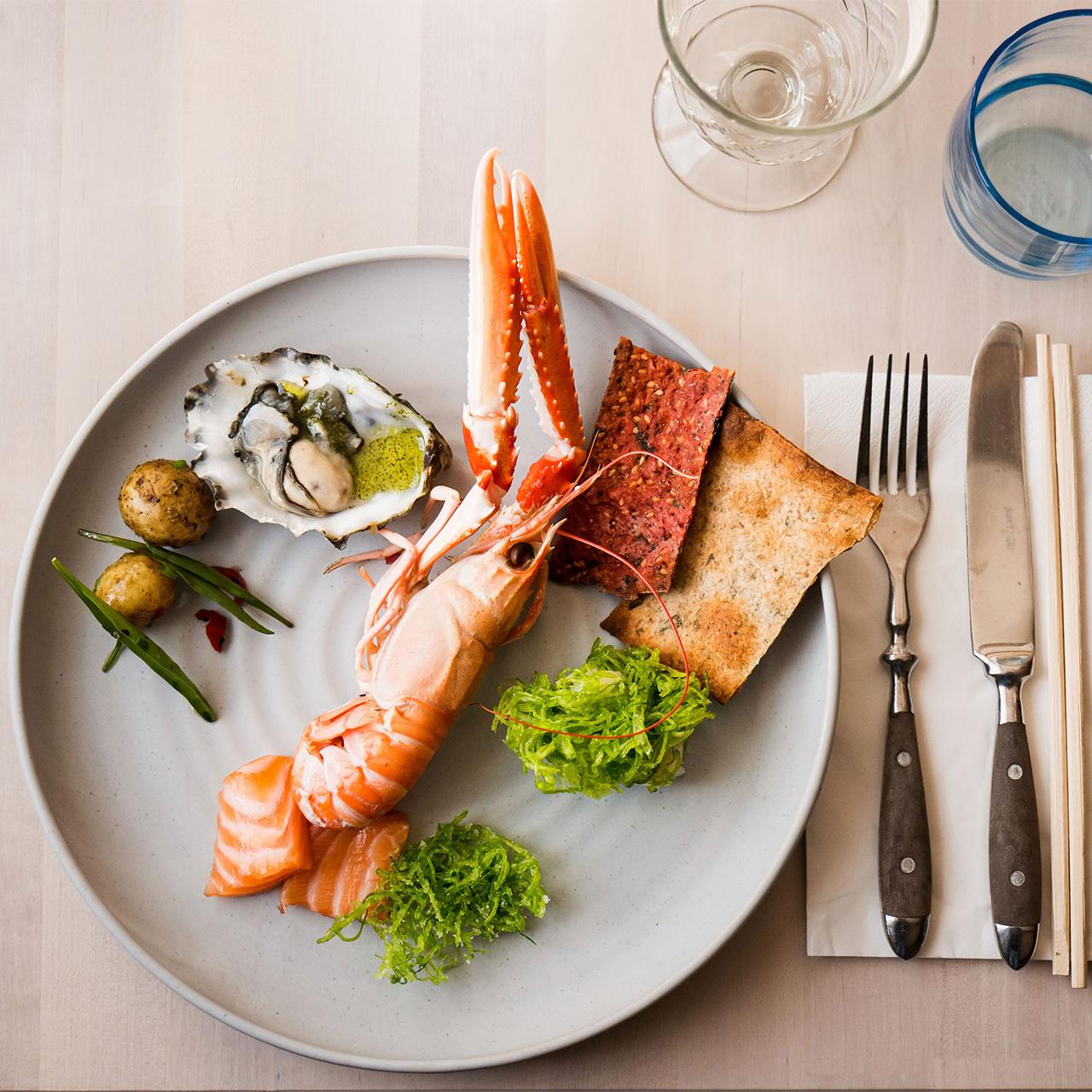 fresh seafood feast on Sweden's west coast