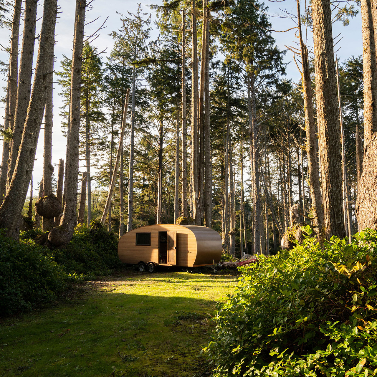 mobile mini-cabin in Olympic National Park near Seattle
