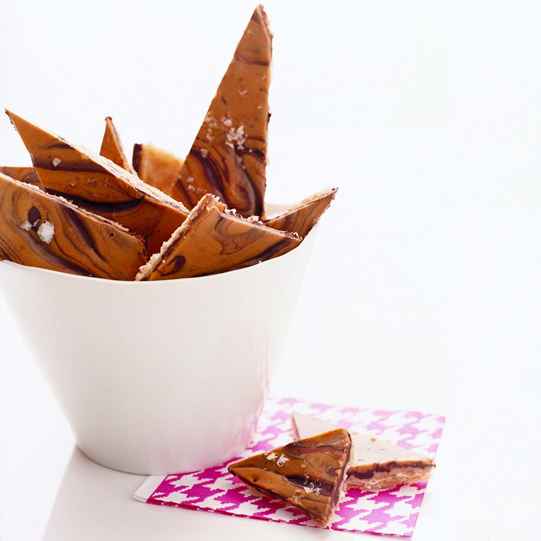 Salty Chocolate Peanut Butter Brittle
