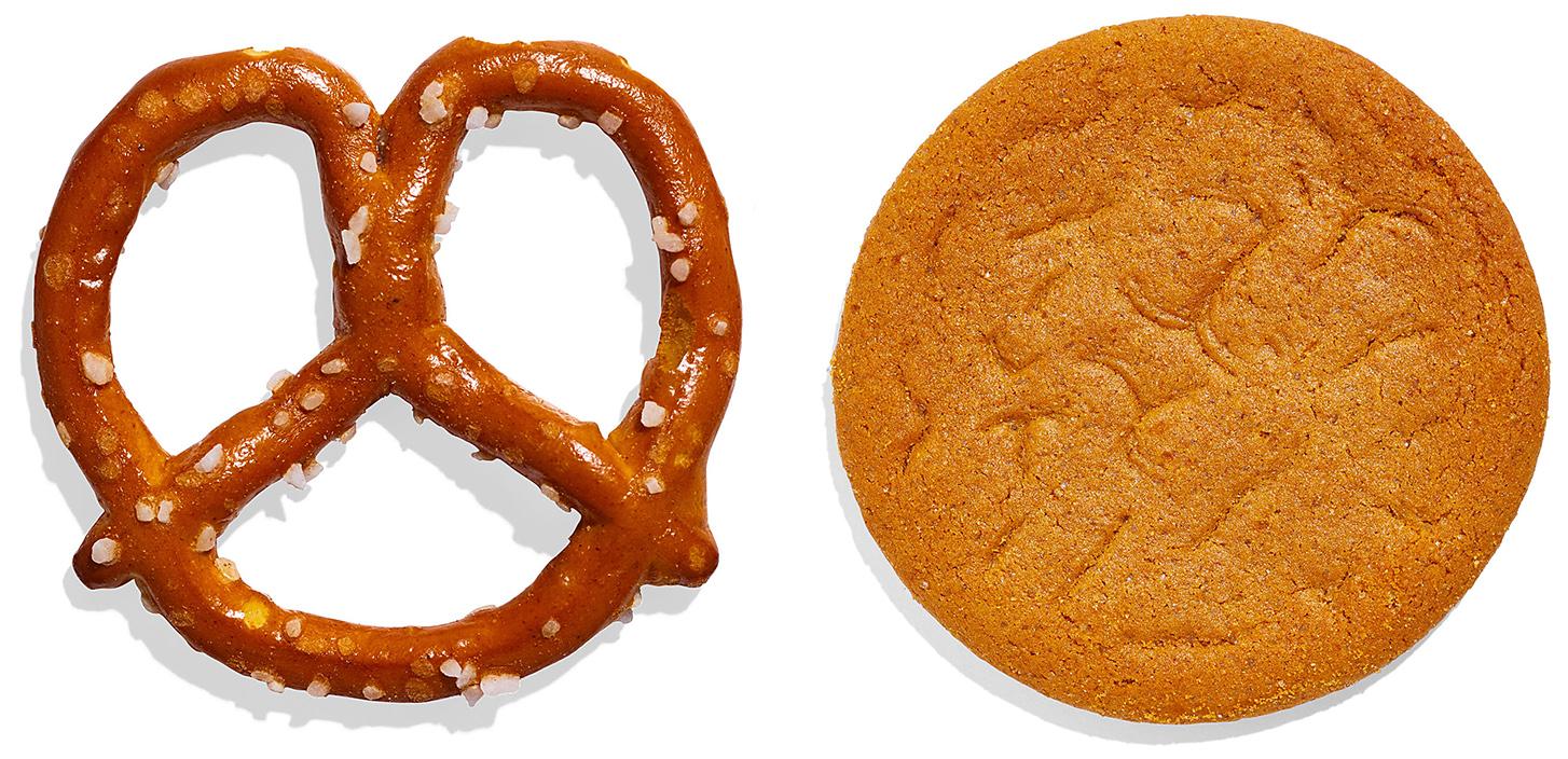 pretzel and gingersnap