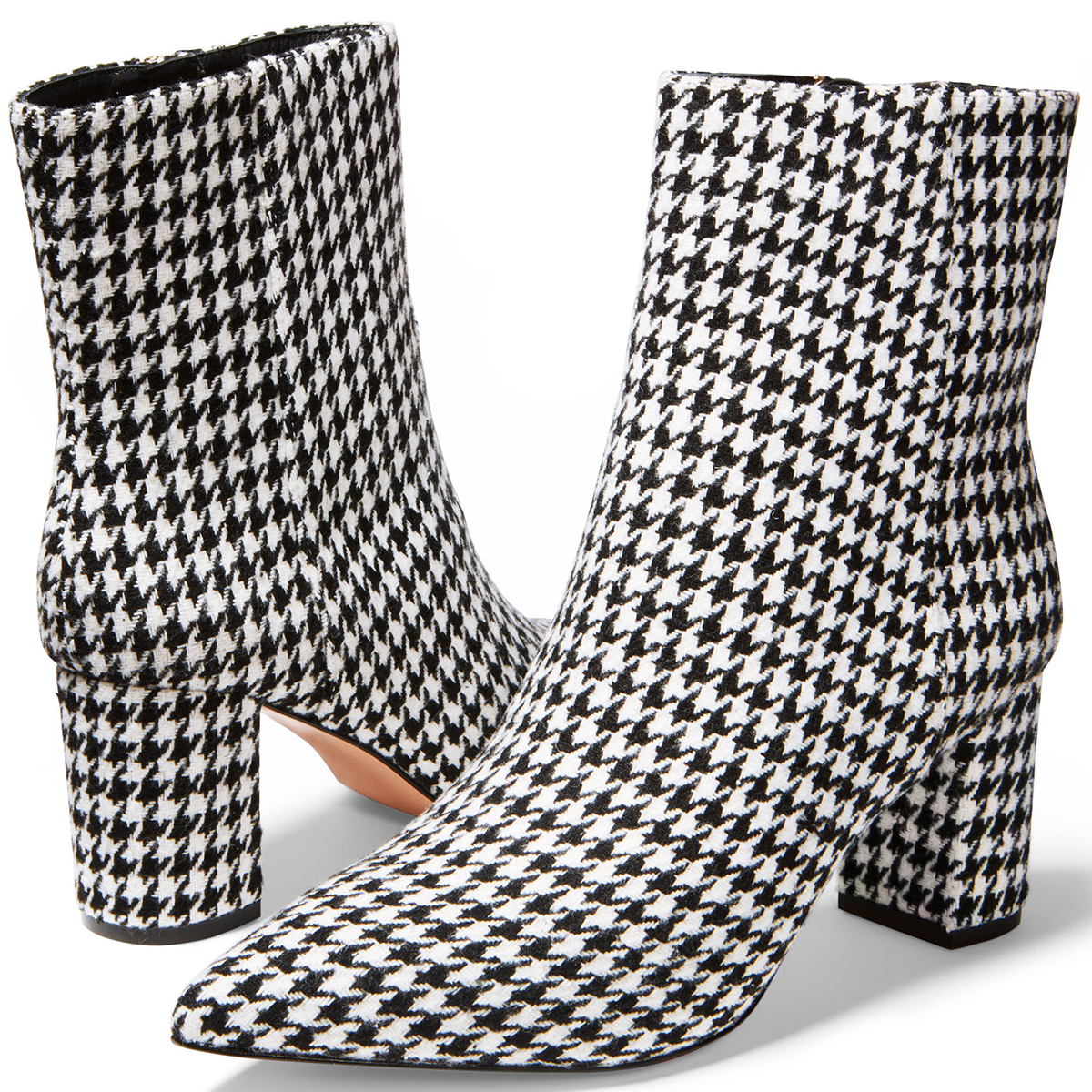 Houndstooth Pointy Toe Maya Boots by J. Crew