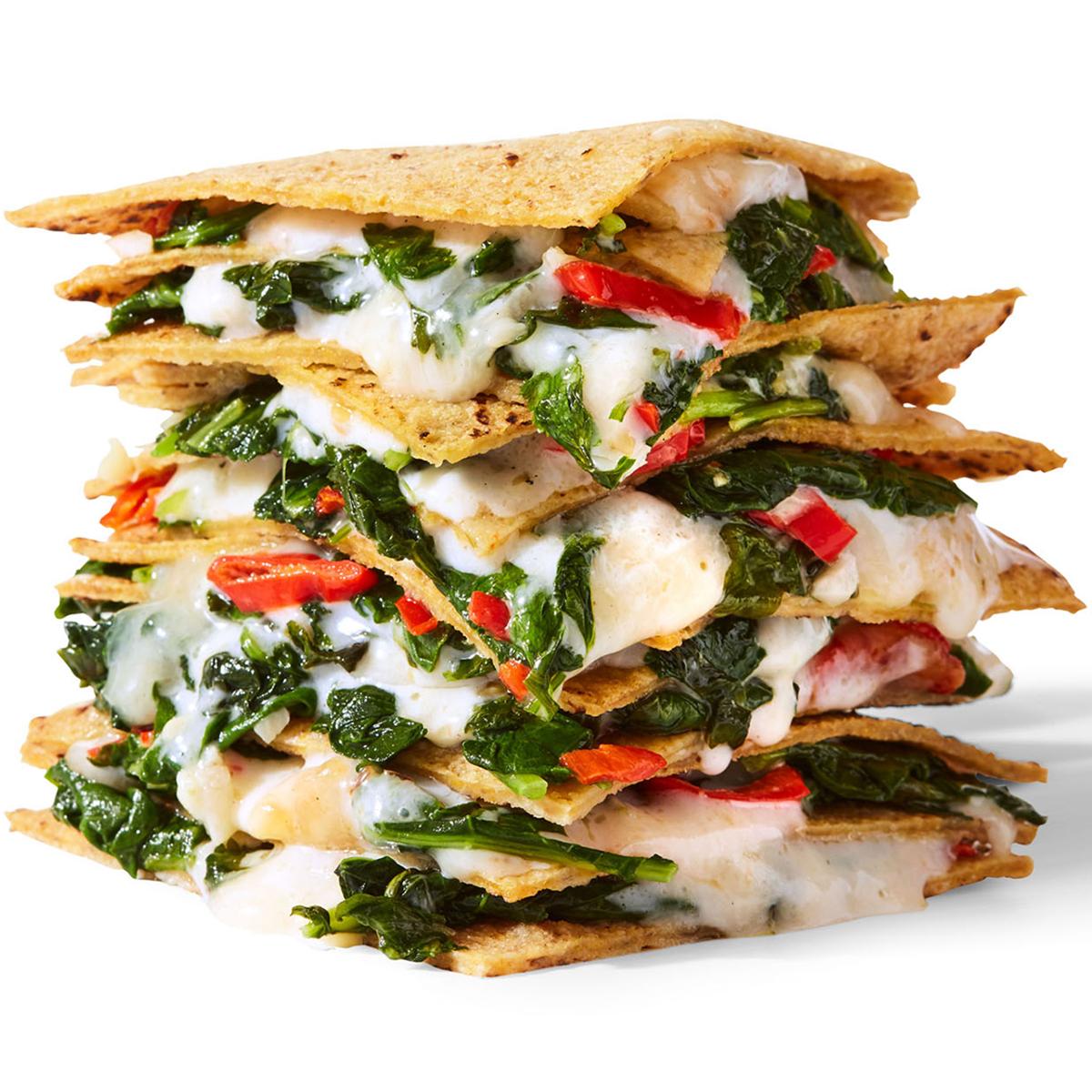 Quesadilla Club with Garlicky Kale Recipe