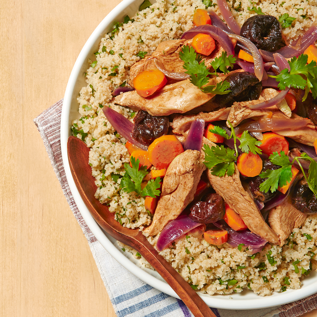 moroccan chicken carrots with couscous