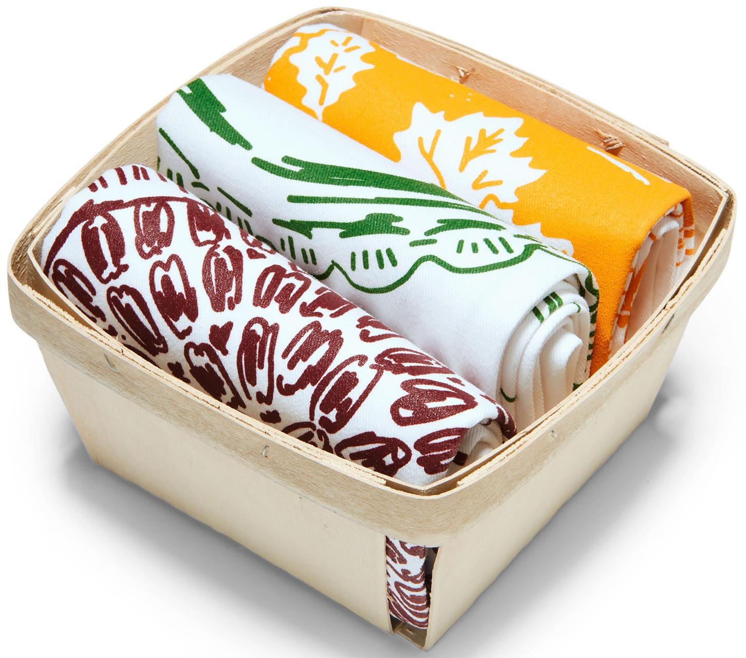 belle and union festive pies tea towel set