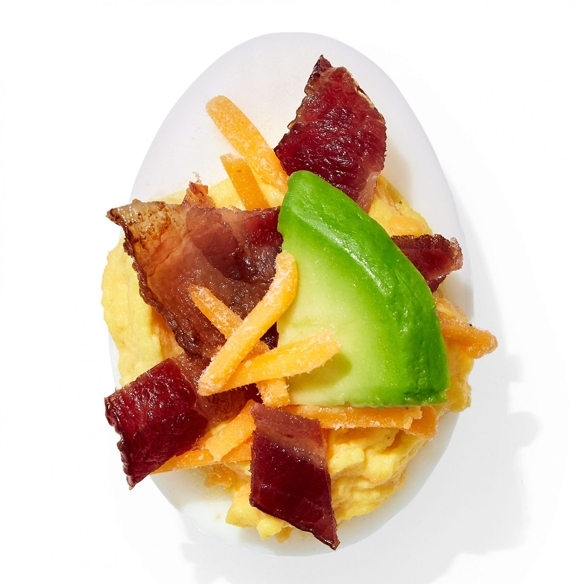 Bacon Egg and Cheese Deviled Egg