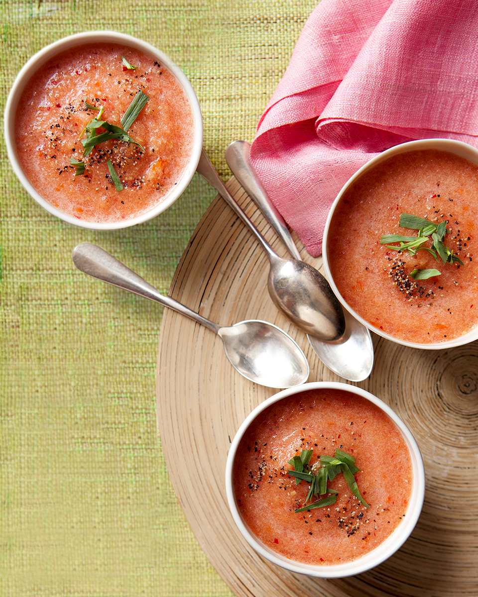 peach gazpacho