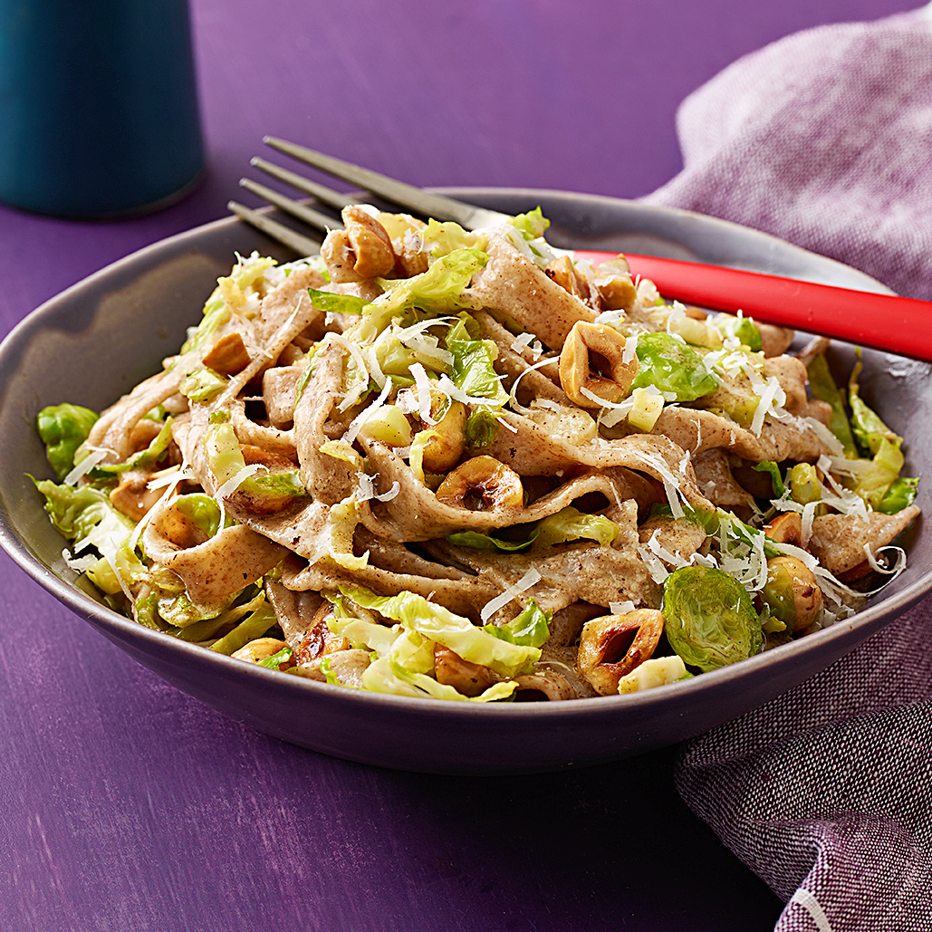 Brown Butter and Brussels Sprouts Fettuccine