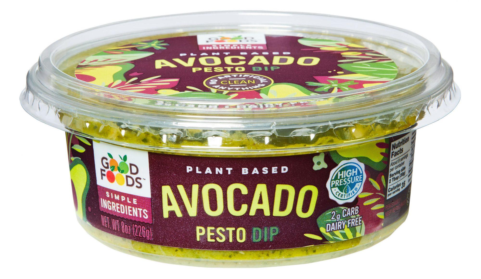 good foods planet based avocado pesto dip