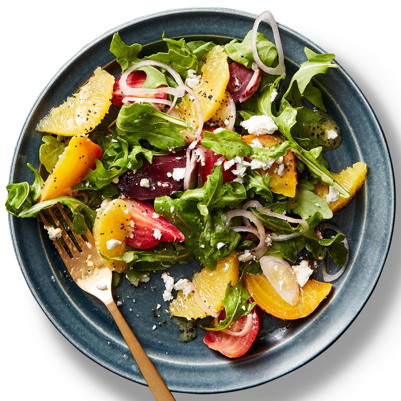 Beet & Arugula Salad with Poppy Seed Dressing