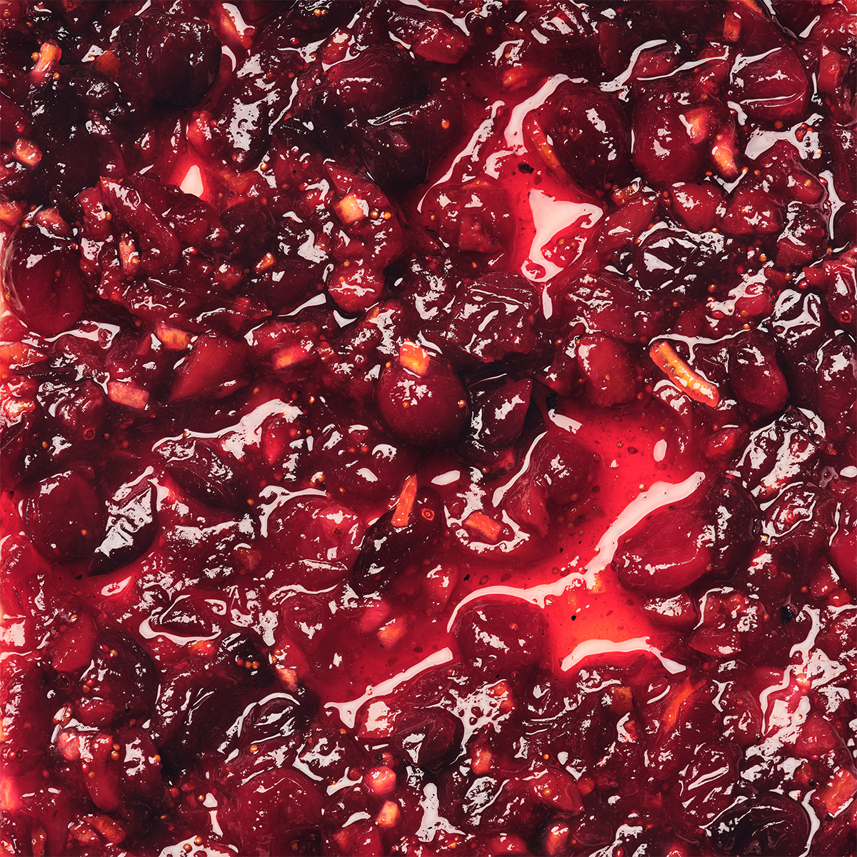 Fancy Cranberry Sauce with Dried Figs & Candied Orange Peel