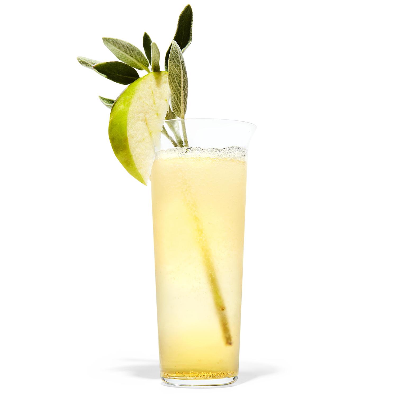 Ginger-Sage Apple Spritzer