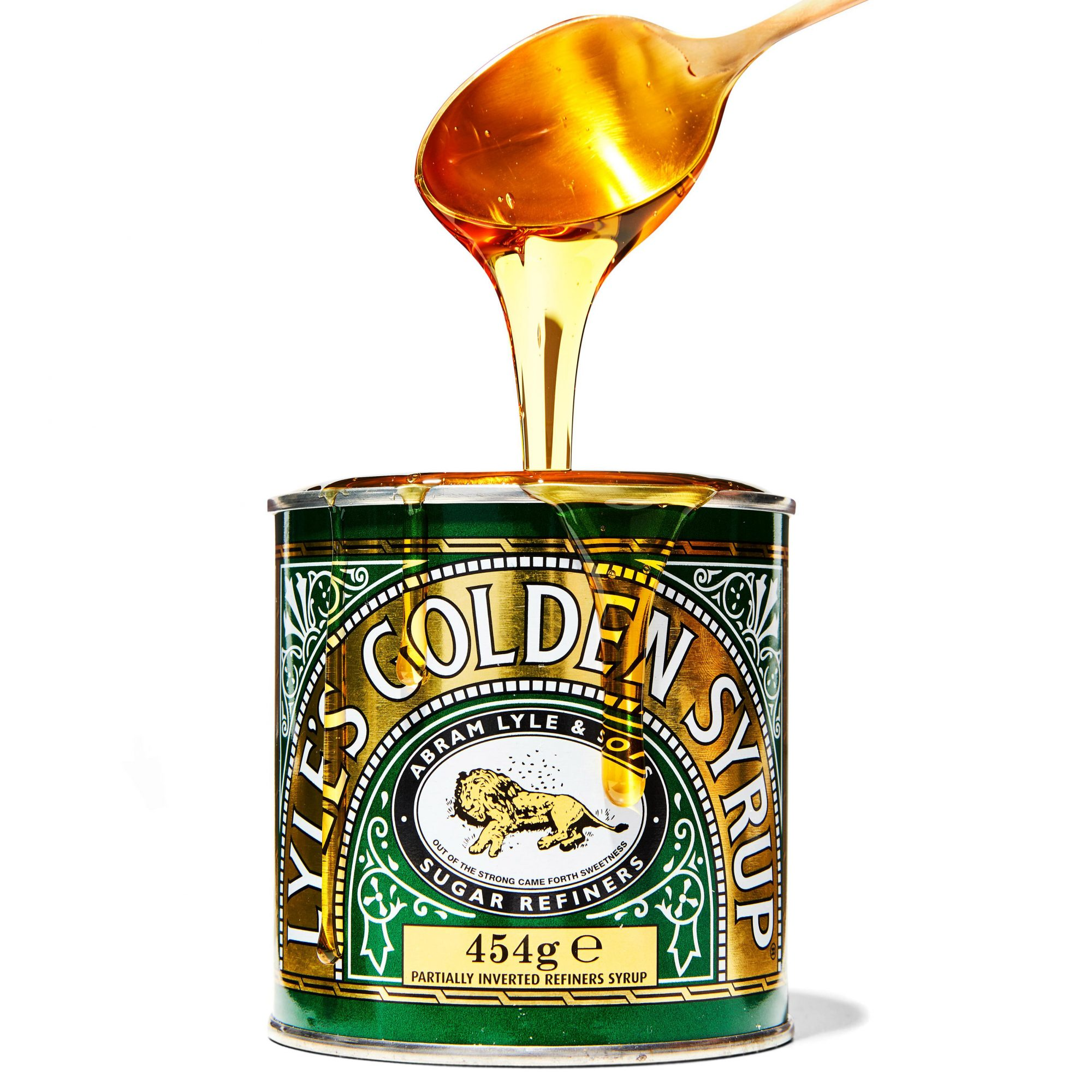 Lyle's Golden Syrup with spoon