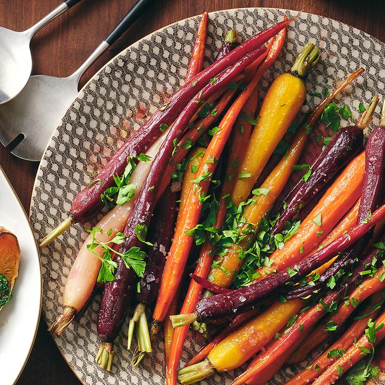 Maple-Ginger Glazed Carrots