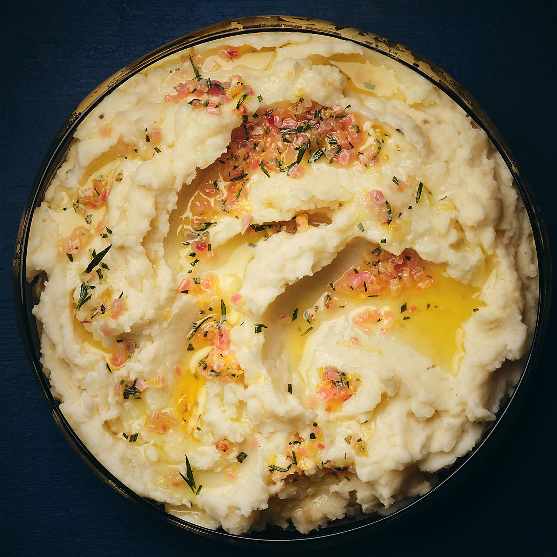 Mashed Potatoes with Lemon, Shallot & Rosemary Butter