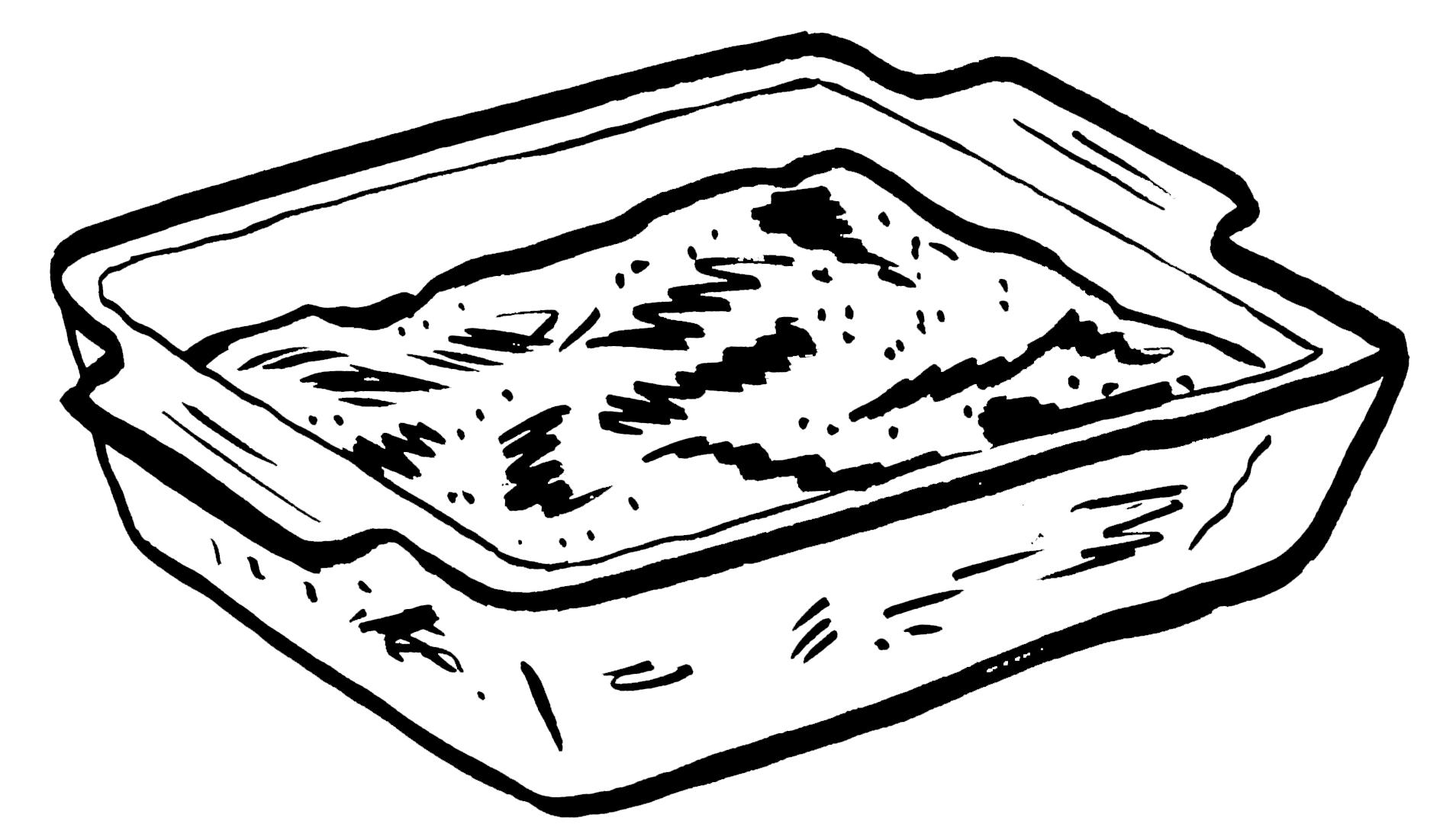 baking dish illustration