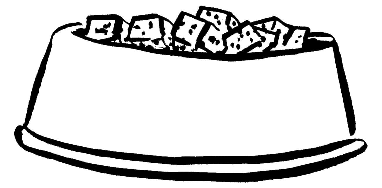 dog bowl illustration