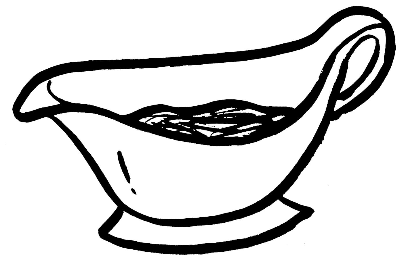 gravy boat illustration
