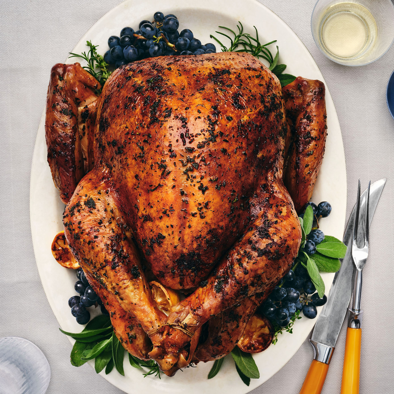 herb butter turkey with quick pan gravy
