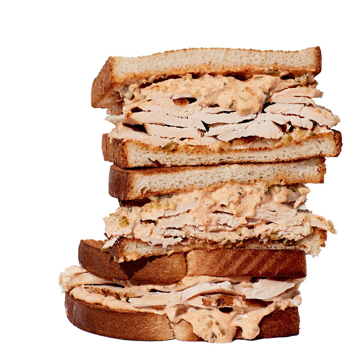 super simple delicious leftover turkey sandwich