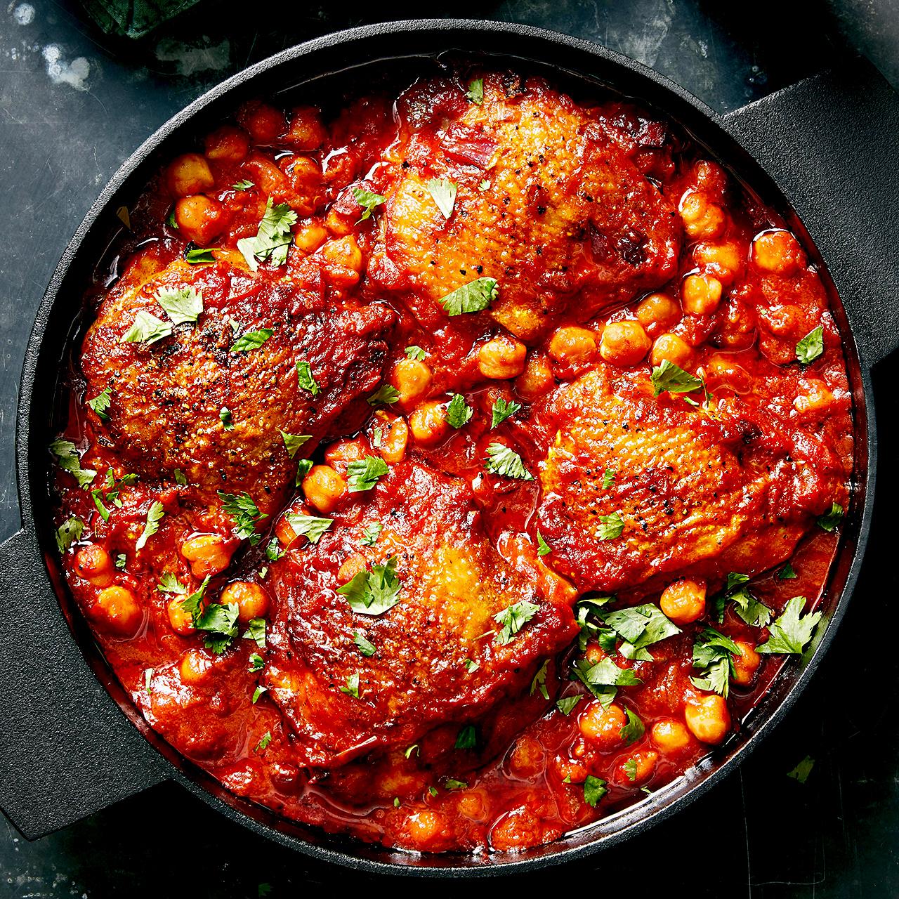 Moroccan Chicken & Chickpeas