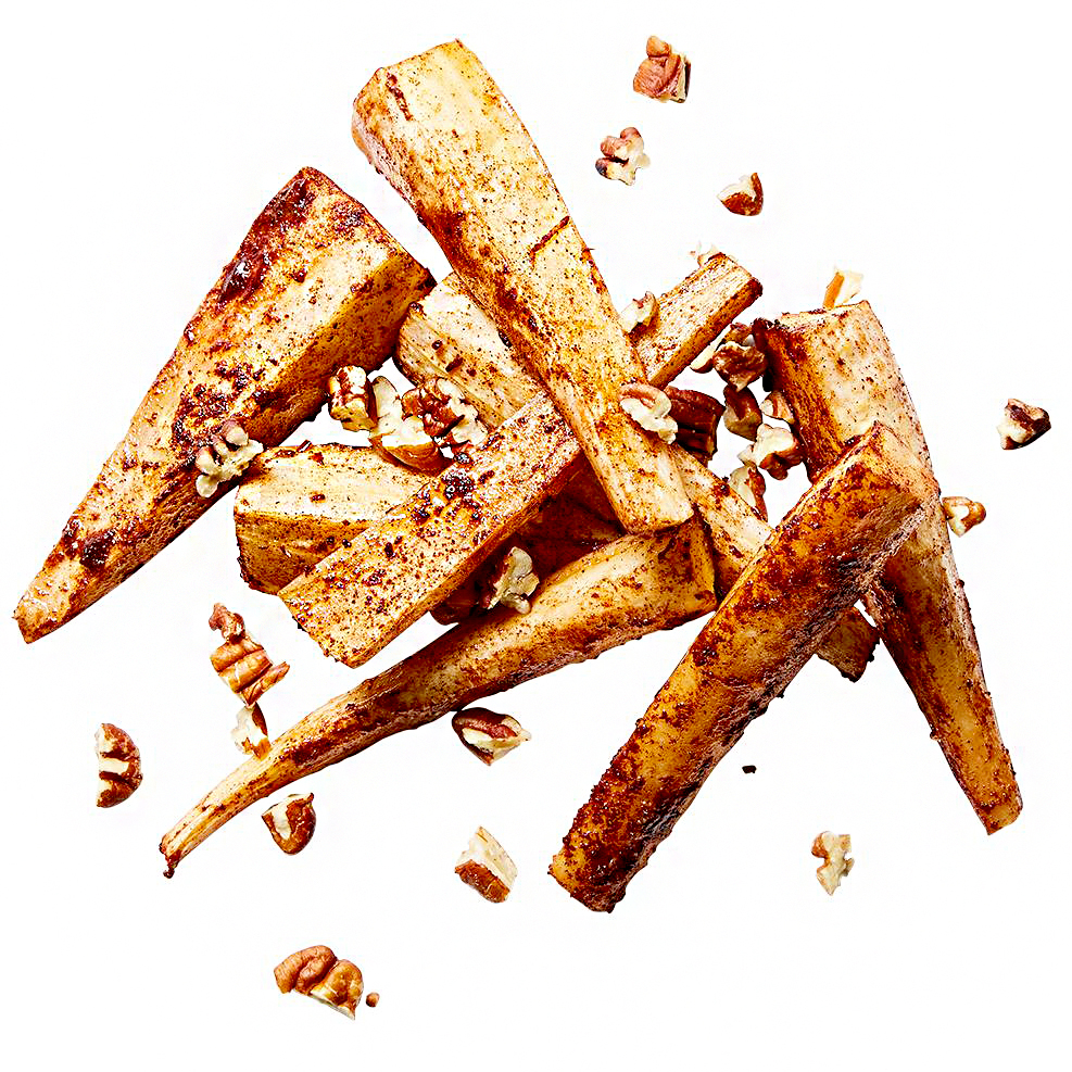 Spiced Parsnips with Toasted Pecans