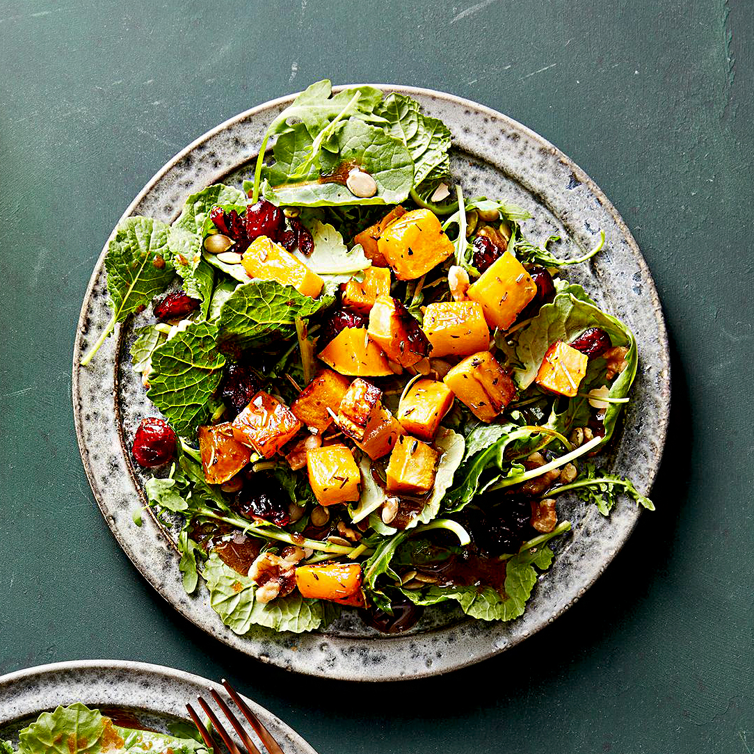 Winter Salad with Roasted Butternut Squash