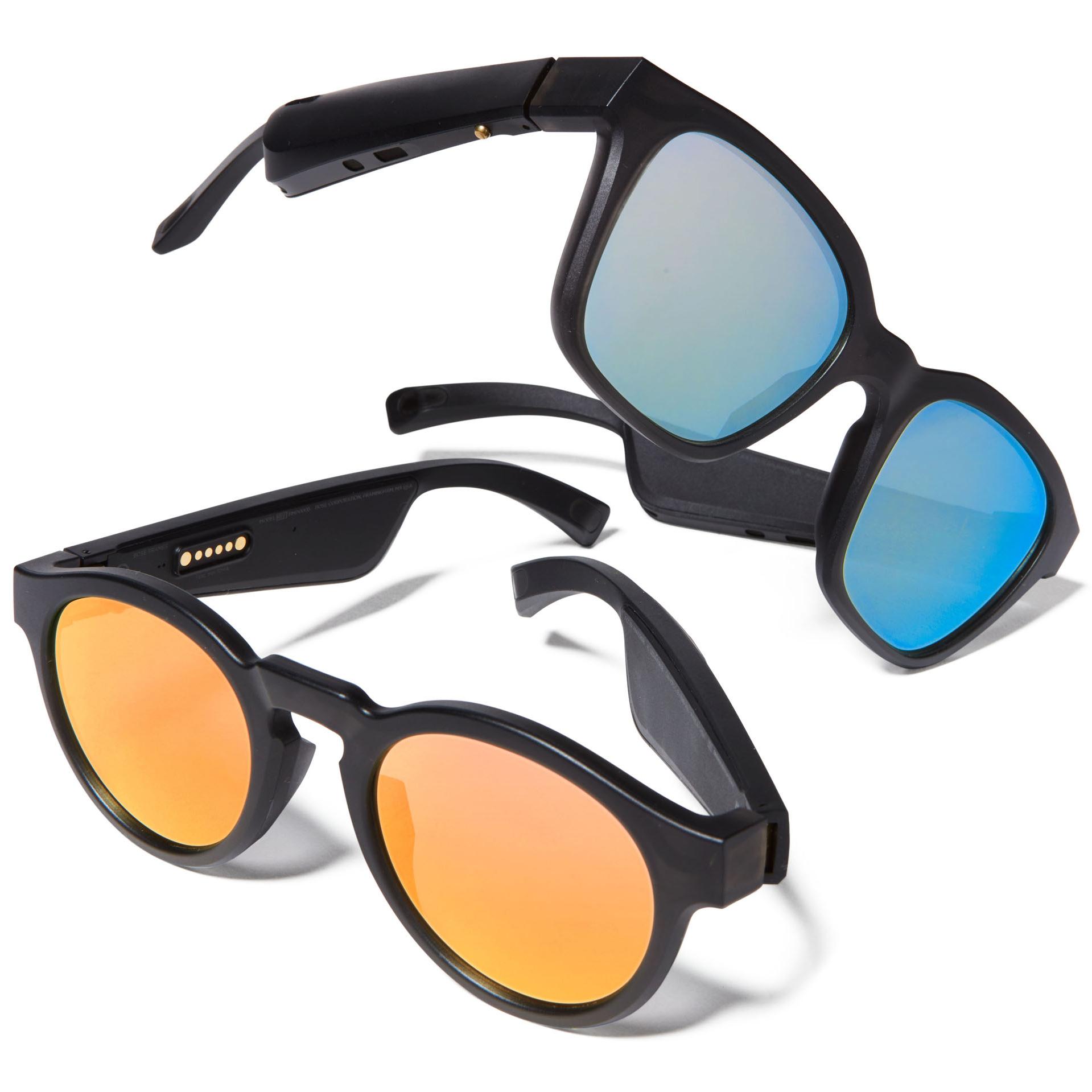 two pairs of bose speaker sunglasses