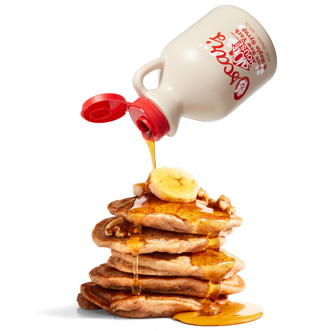 Breakfast Lover's Box Pancake Stack Syrup Bottle